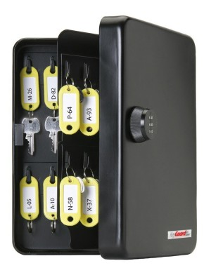 KeyGuard-SL-8548-Combination-Key-Cabinet-With-Black 3-Dial Combi-Cam-48-Hook is one of the best combination lockbox for keys