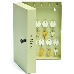 MMF Industries 28-Key Hook-Style Steel Key Cabinet